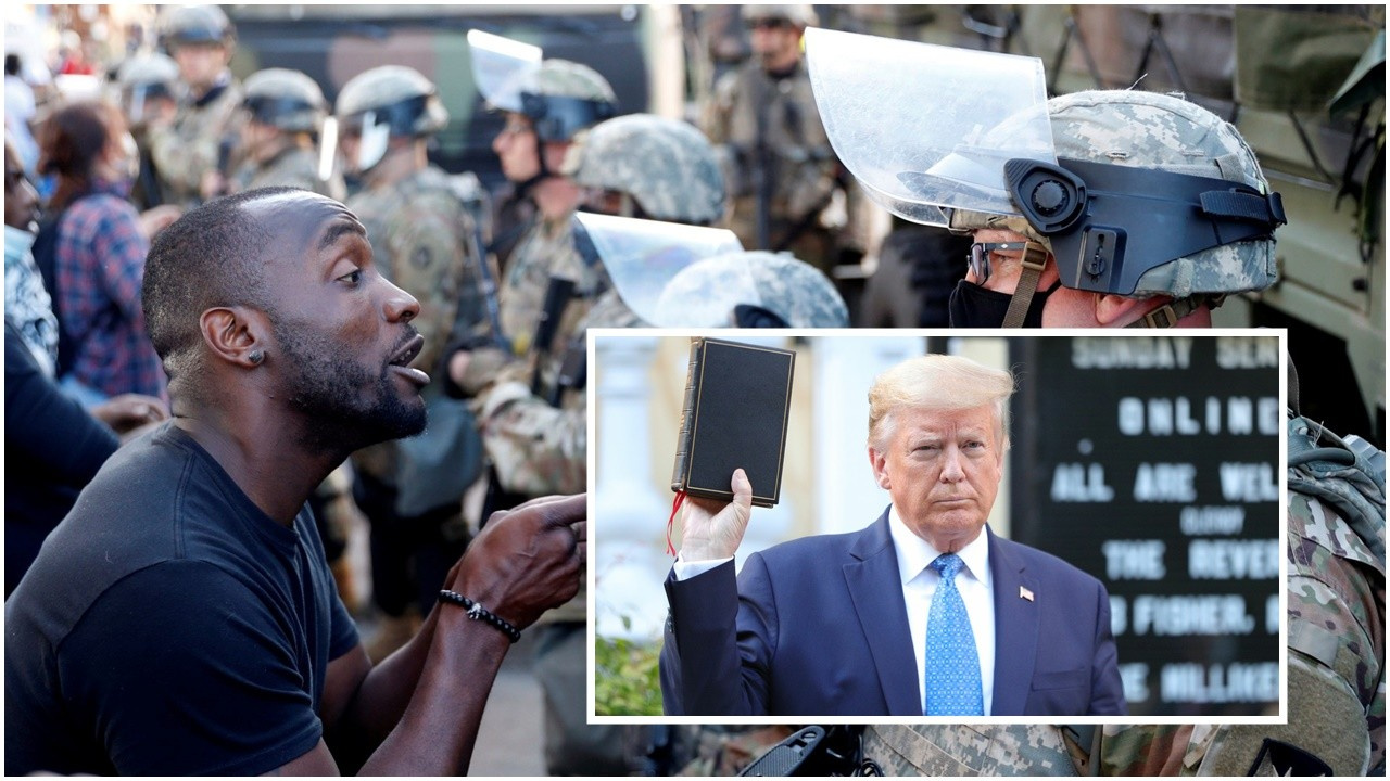 Trump, ağır silahlı askerleri görevlendirdi