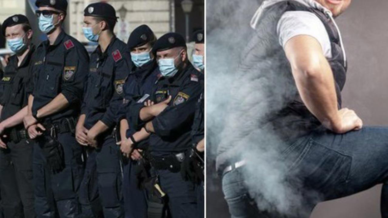 Polisin yanında gaz çıkaran adama ceza kesildi