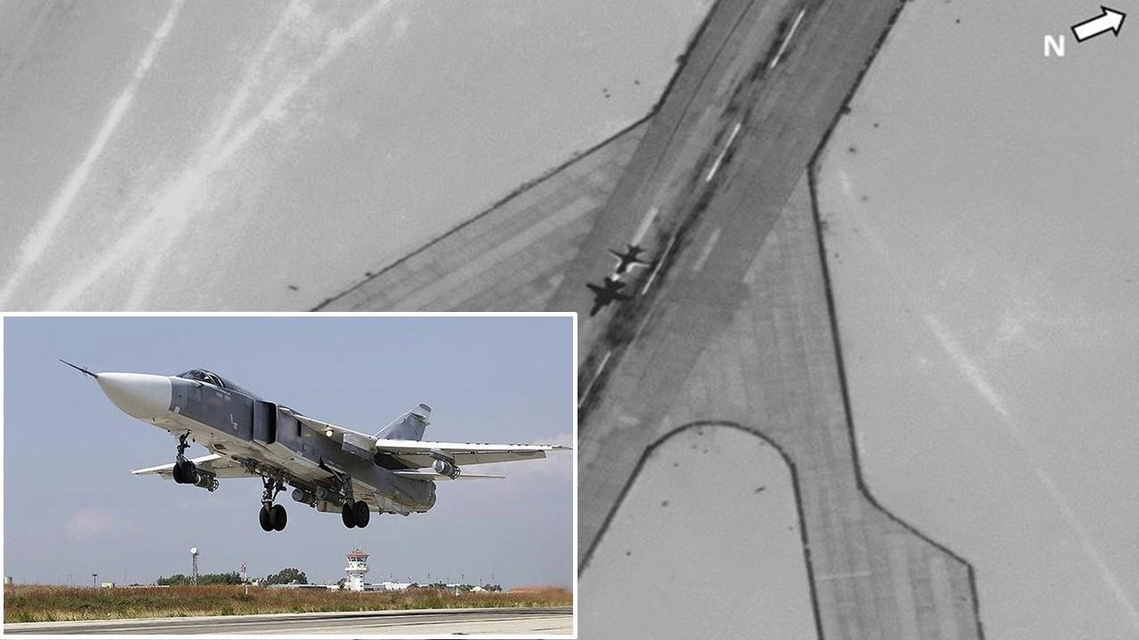 Libya'daki Rus uçaklarının kalkışı görüntülendi