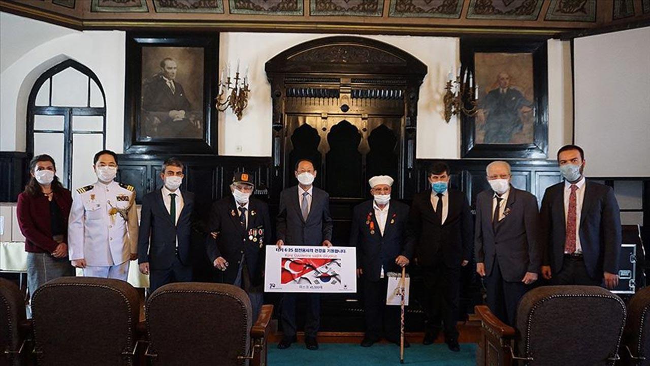 Kore Gazileri'ne Güney Kore'den hediye geldi