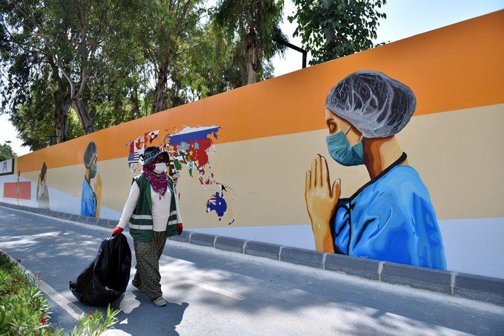 Sağlık çalışanlarını grafiti yansıttı - Sayfa 1