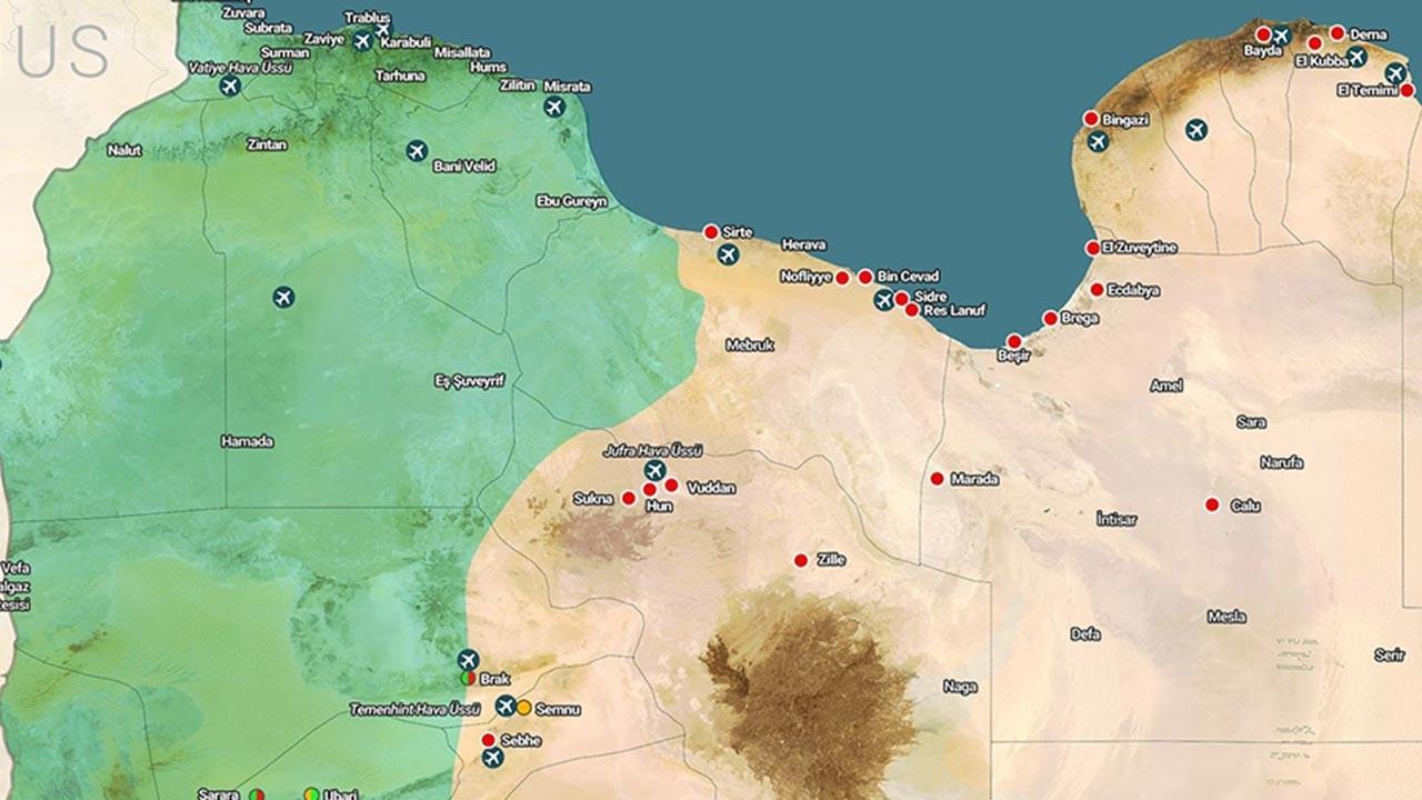 Libya'daki çatışma haritasında son durum