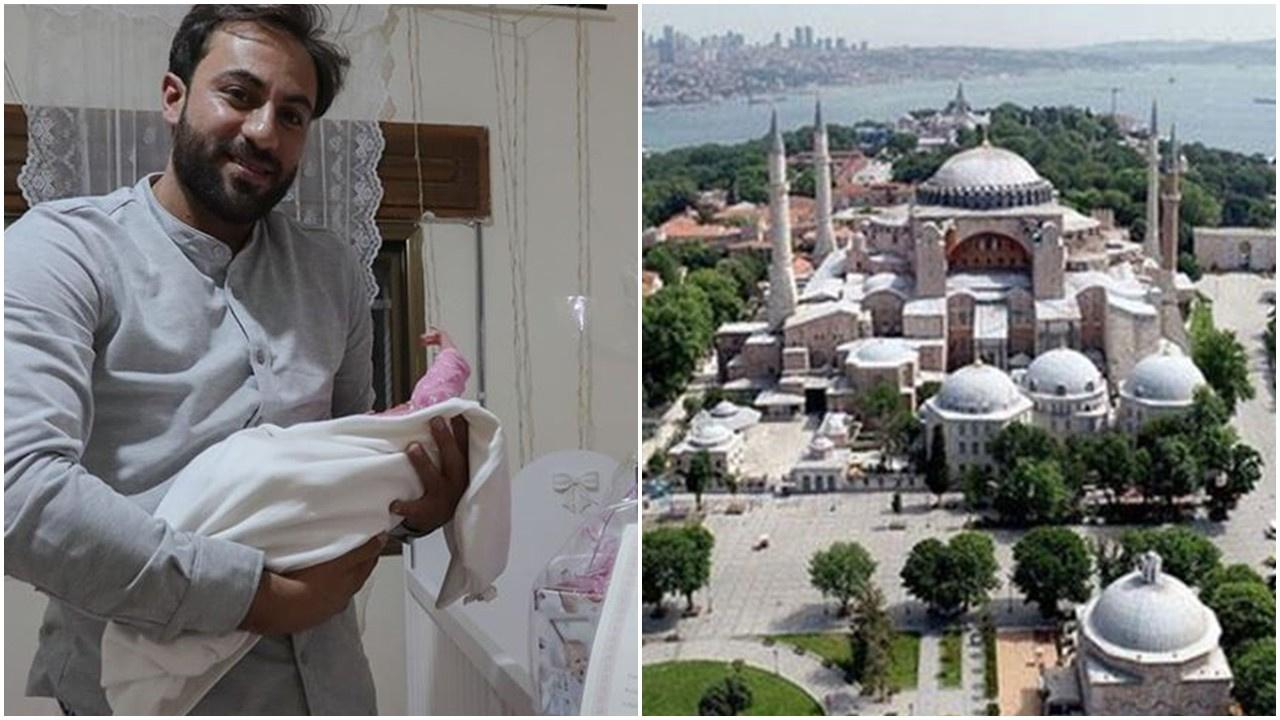 Yeni doğan kızlarına Ayasofya adını verdiler