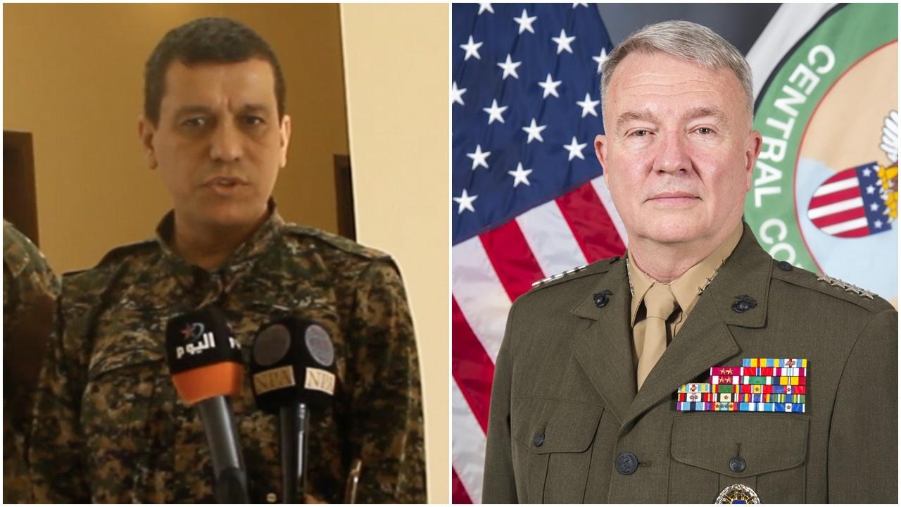 ABD'li komutan Mazlum Abdi'ye 'general' dedi