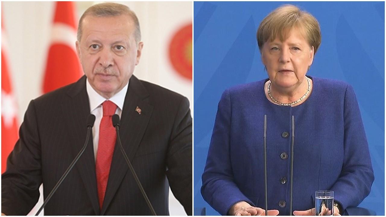 Akdeniz krizinde yeni gelişme: Erdoğan, Merkel ile görüştü