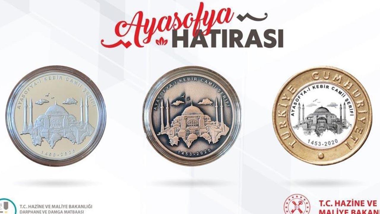 Ayasofya-i Kebir Camii hatırası para