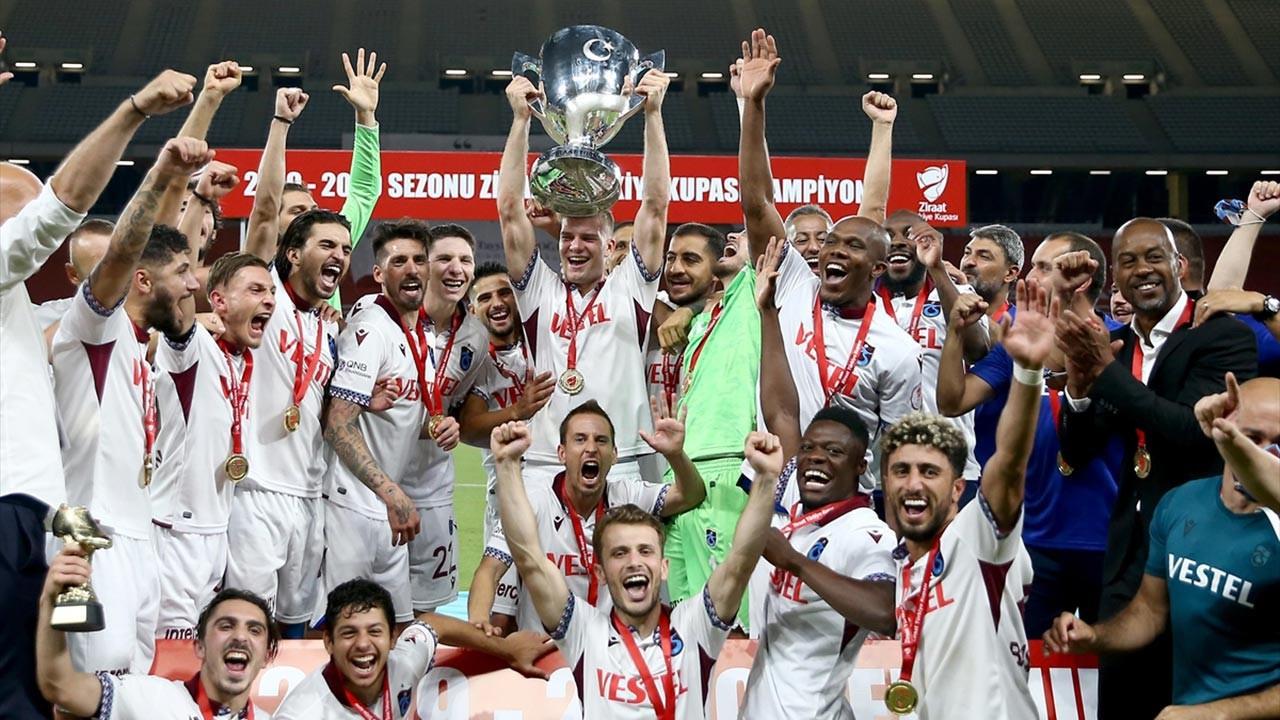 Türkiye Kupası dokuzuncu kez Trabzonspor'un