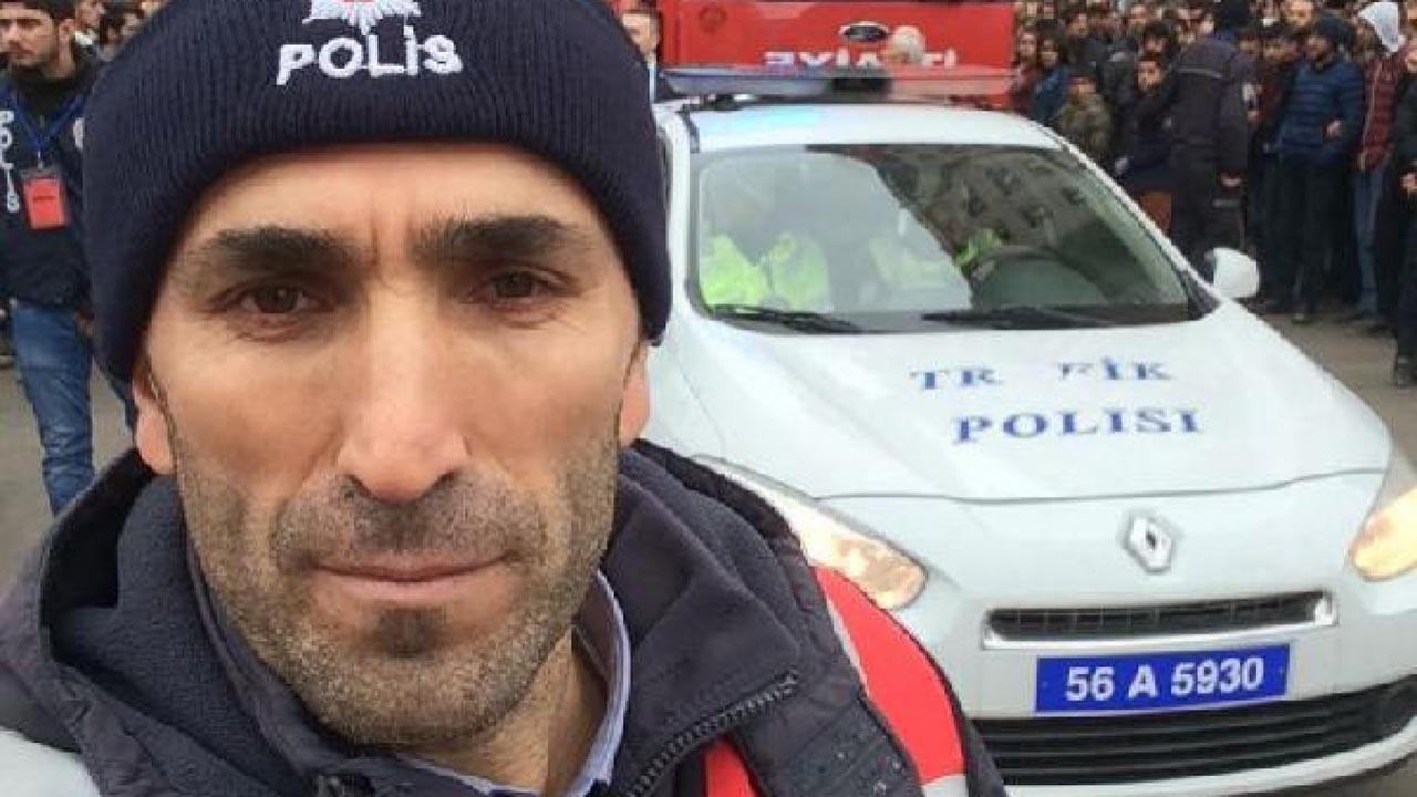 Yüksekten düşen polis kurtarılamadı