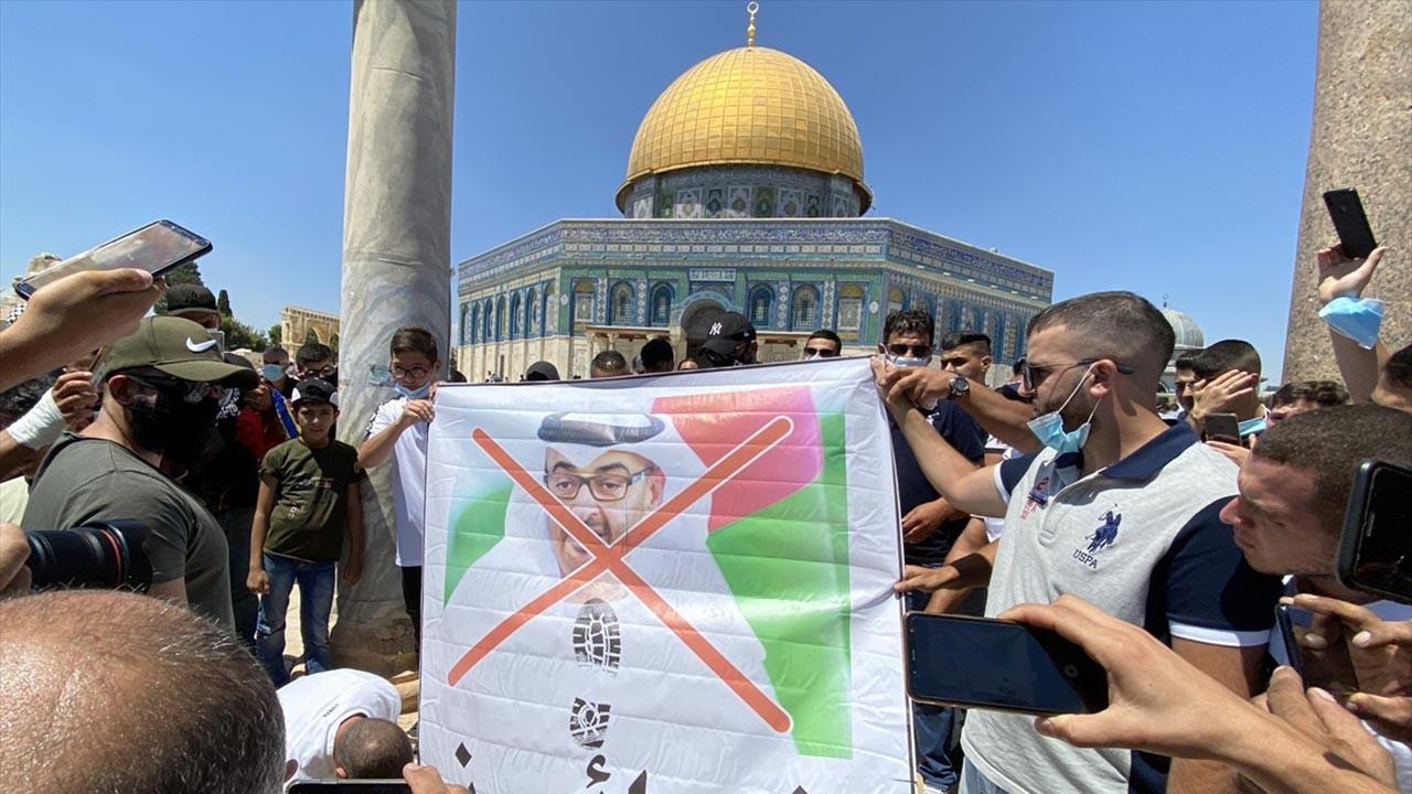 İsrail ile anlaşan prens Kudüs'te protesto edildi