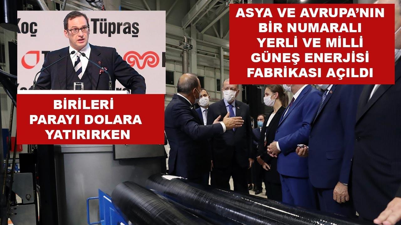 Türkiye'nin ilk yerli güneş paneli fabrikası açıldı