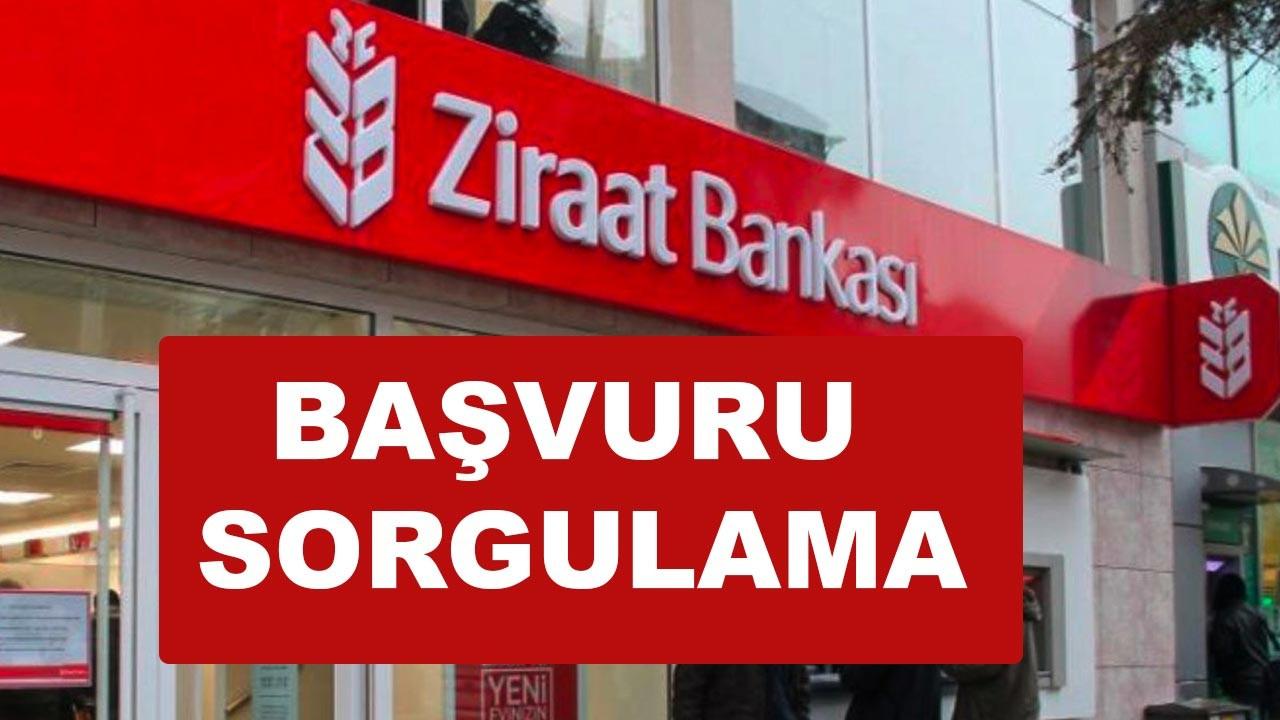 Ziraat Bankası Destek Kredisi Başvuru Sorgulama