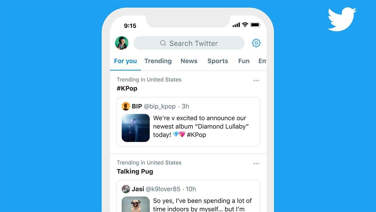 Twitter Gündem kısmında 'sabit mesaj' dönemi