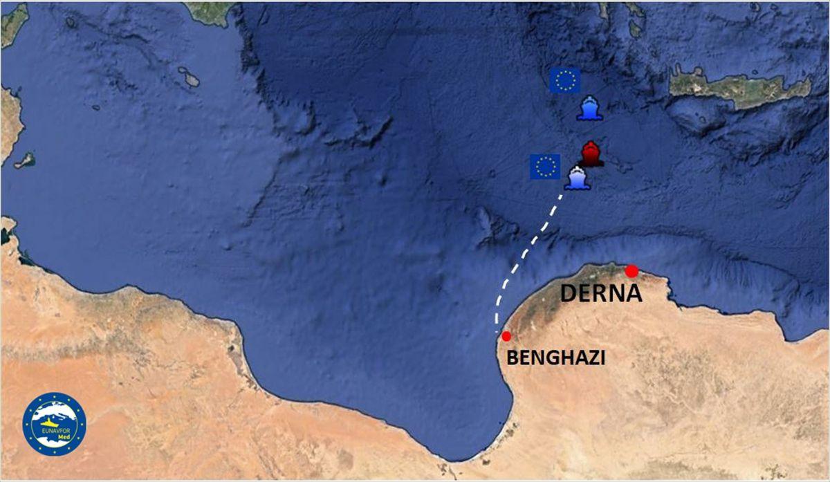 AB güçleri, Hafter'e yakıt taşıyan BAE gemisini durdurdu - Sayfa 1