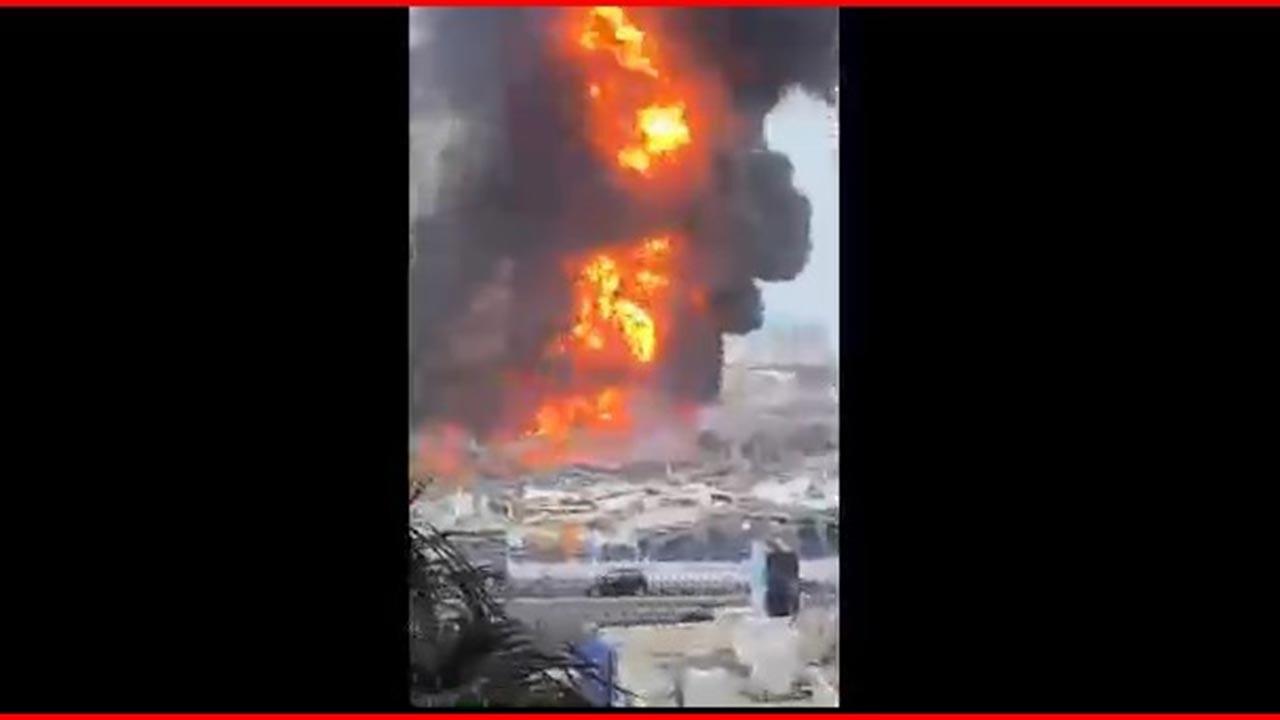Beyrut Limanı'nda yeni patlama ve yangın