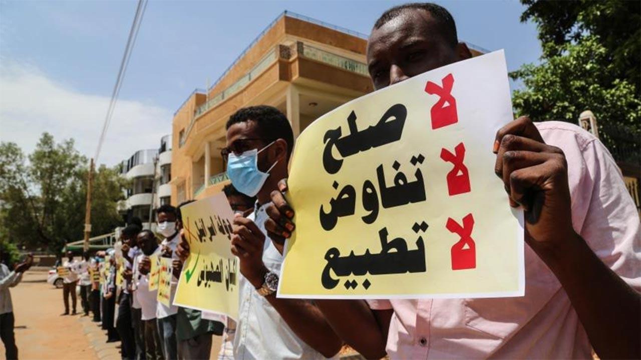 Sudan'da İsrail ile normalleşme protestoları