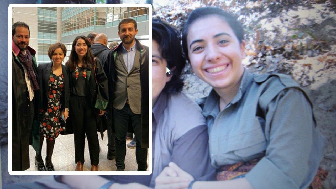 Kadın avukat PKK'nın silahlı teröristi çıktı