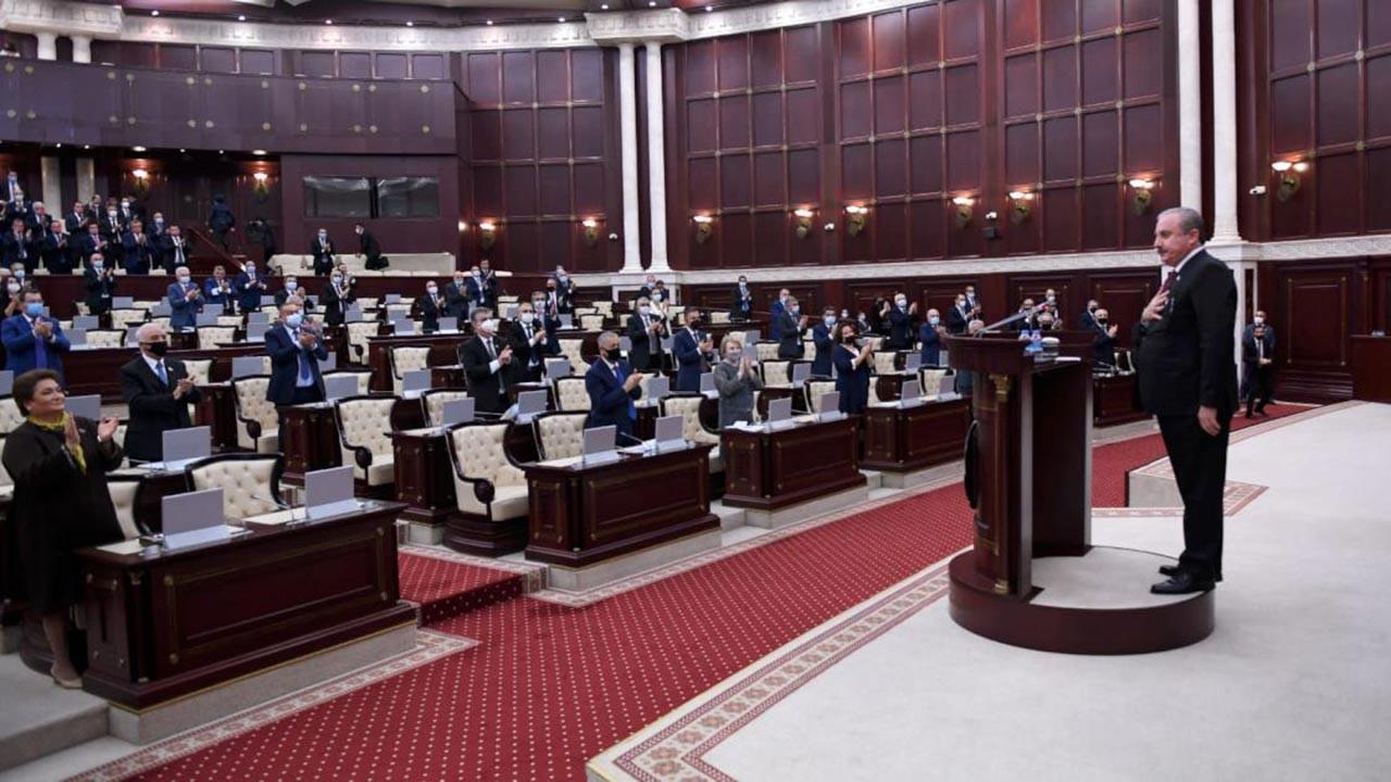 Mustafa Şentop Azerbaycan Meclisi'nde konuştu