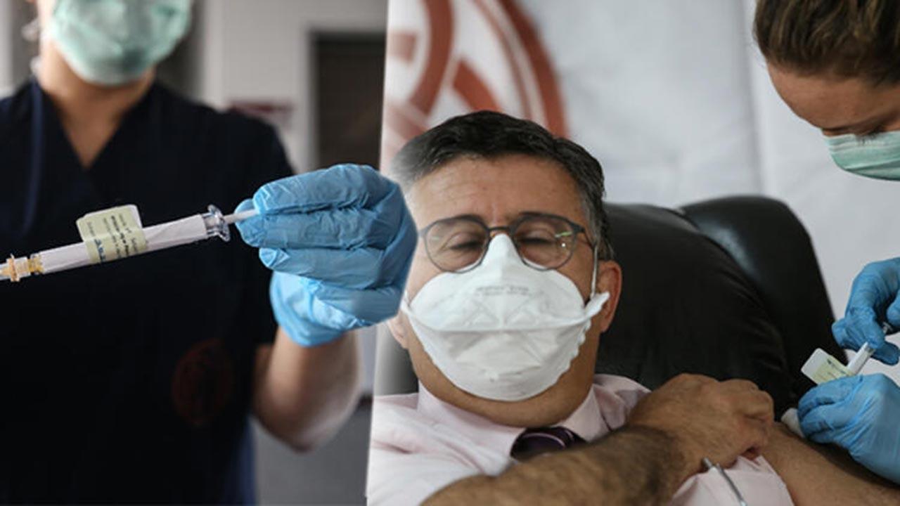 İlk aşı Prof. Dr. Necmettin Ünal'a yapıldı