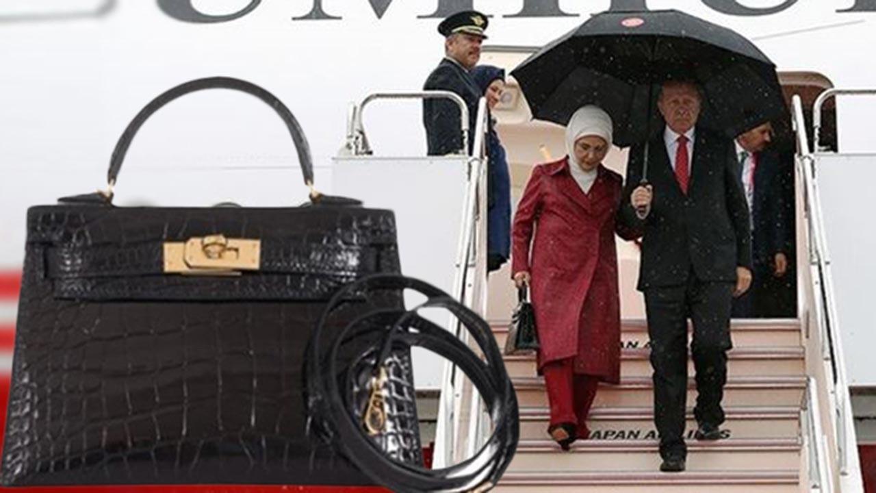 Emine Erdoğan'ın çantası ünlü markaya ait değil