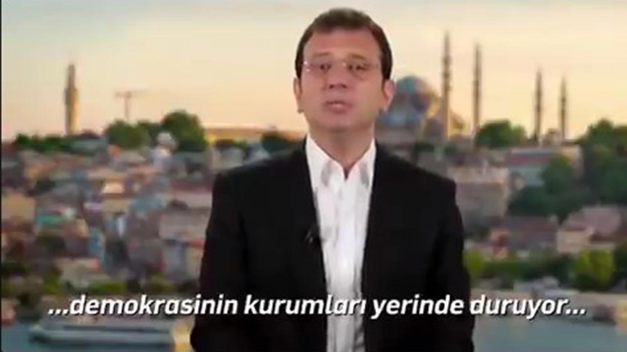 Ekrem İmamoğlu'nun İngilizce konuşması
