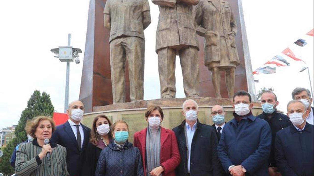 CHP'den sağlık çalışanlarına heykelli destek