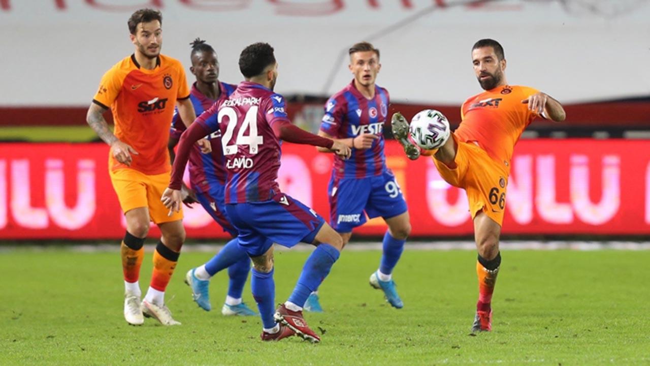Trabzonspor evinde Galatasaray'a 3 puan kaptırdı