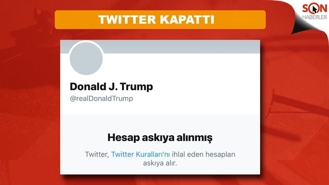 Twitter, Trump'ın hesabını tamamen kapattı