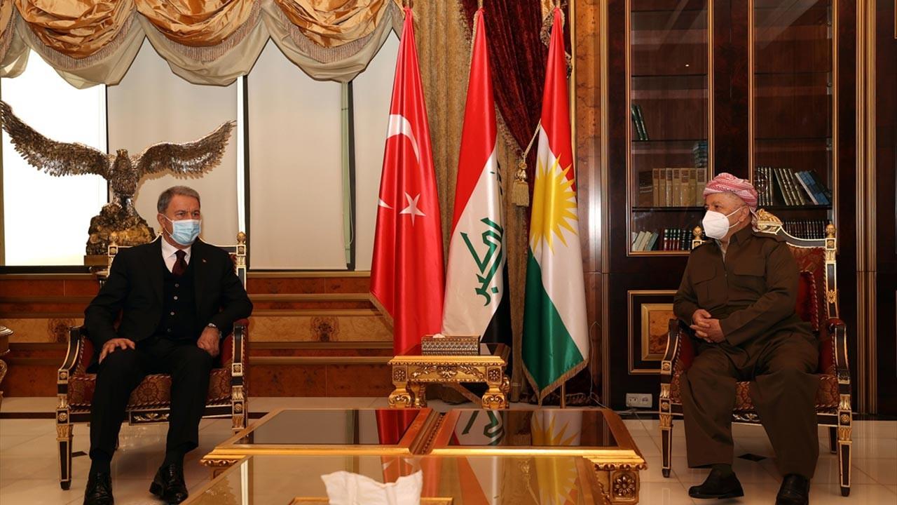 Bakan Akar Barzani ve hükümetiyle bir araya geldi