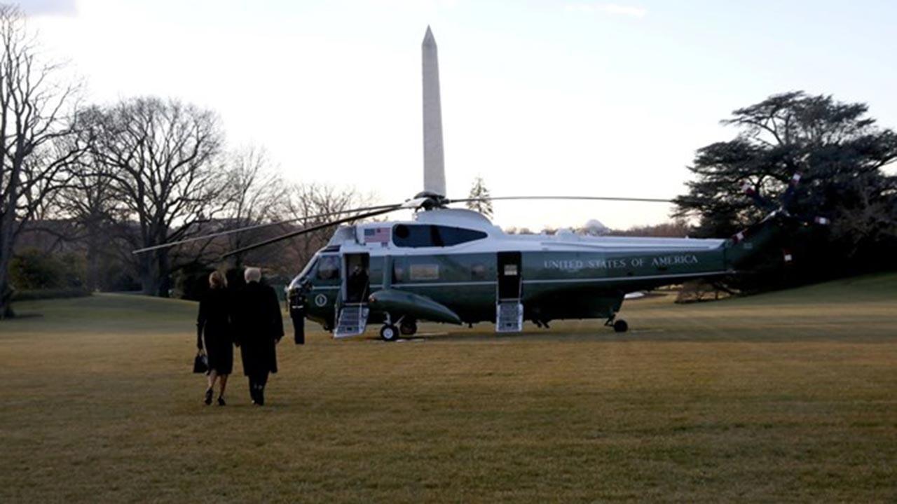 Trump Beyaz Saray'a böyle veda etti