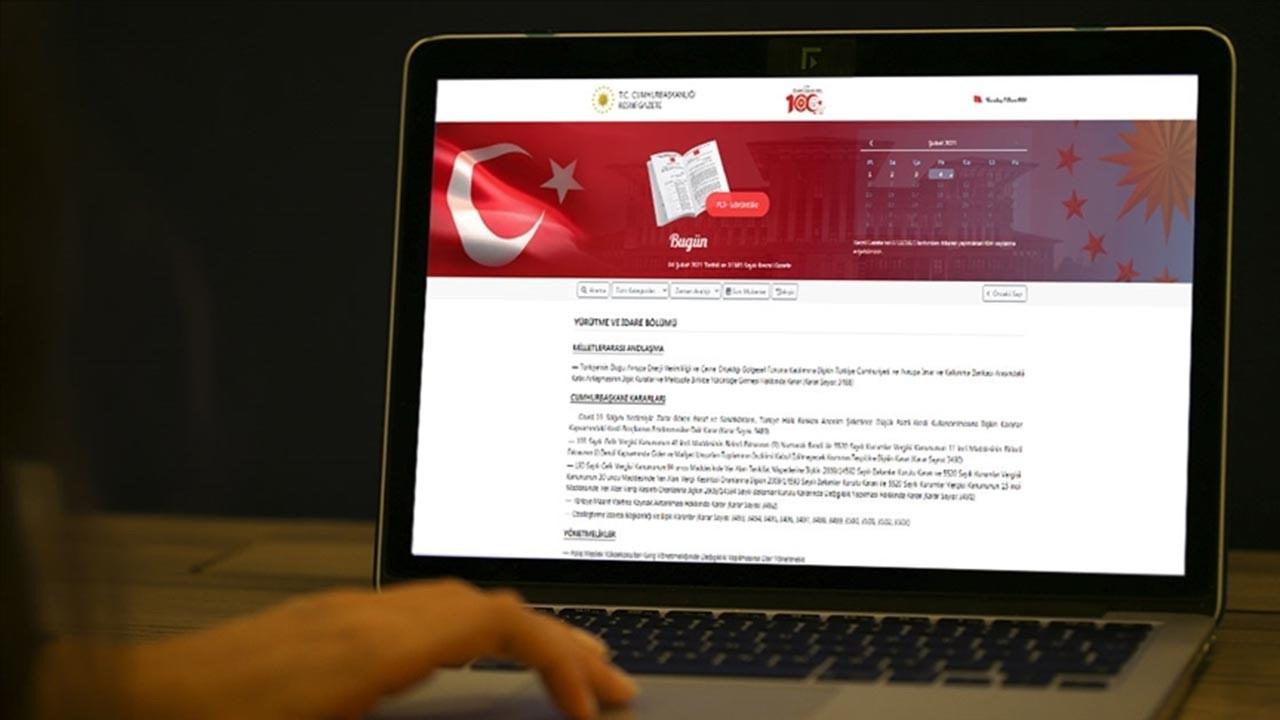 6 Şubat 2021 tarihli resmi gazete kararları