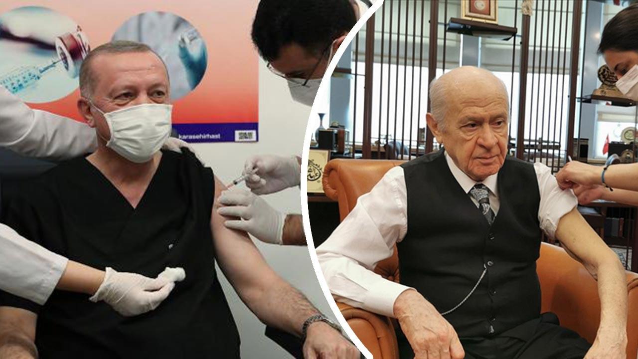 Erdoğan ve Bahçeli ikinci doz aşıyı da oldu