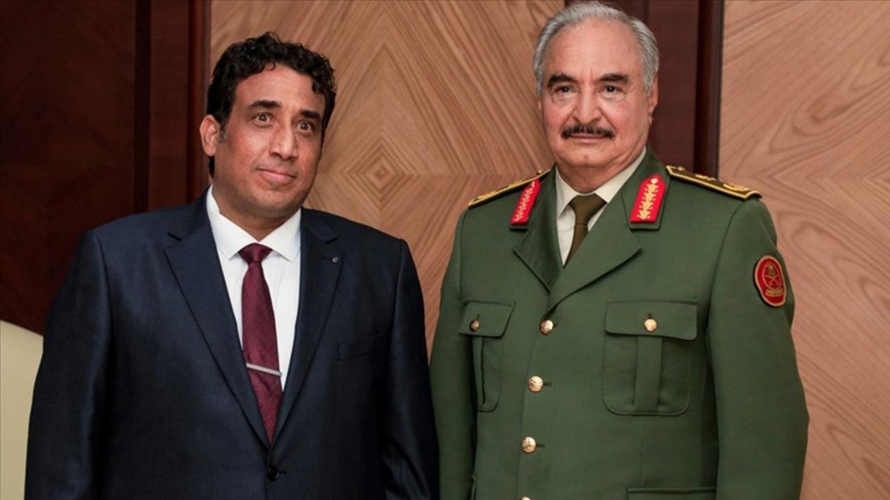 Geçici Libya Başkanı Menfi, Hafter ile görüştü