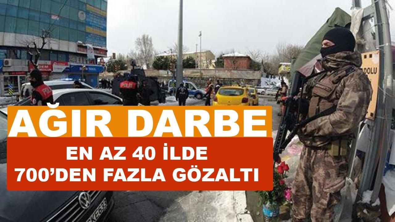 Son Dakika PKK operasyon haberi: Onlarca ilde 700'den fazla gözaltı var