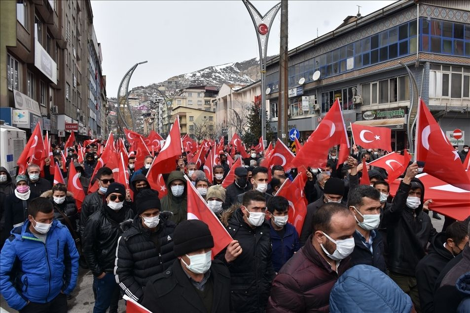 Hakkari'de teröre lanet yürüyüşü düzenlendi - Sayfa 1