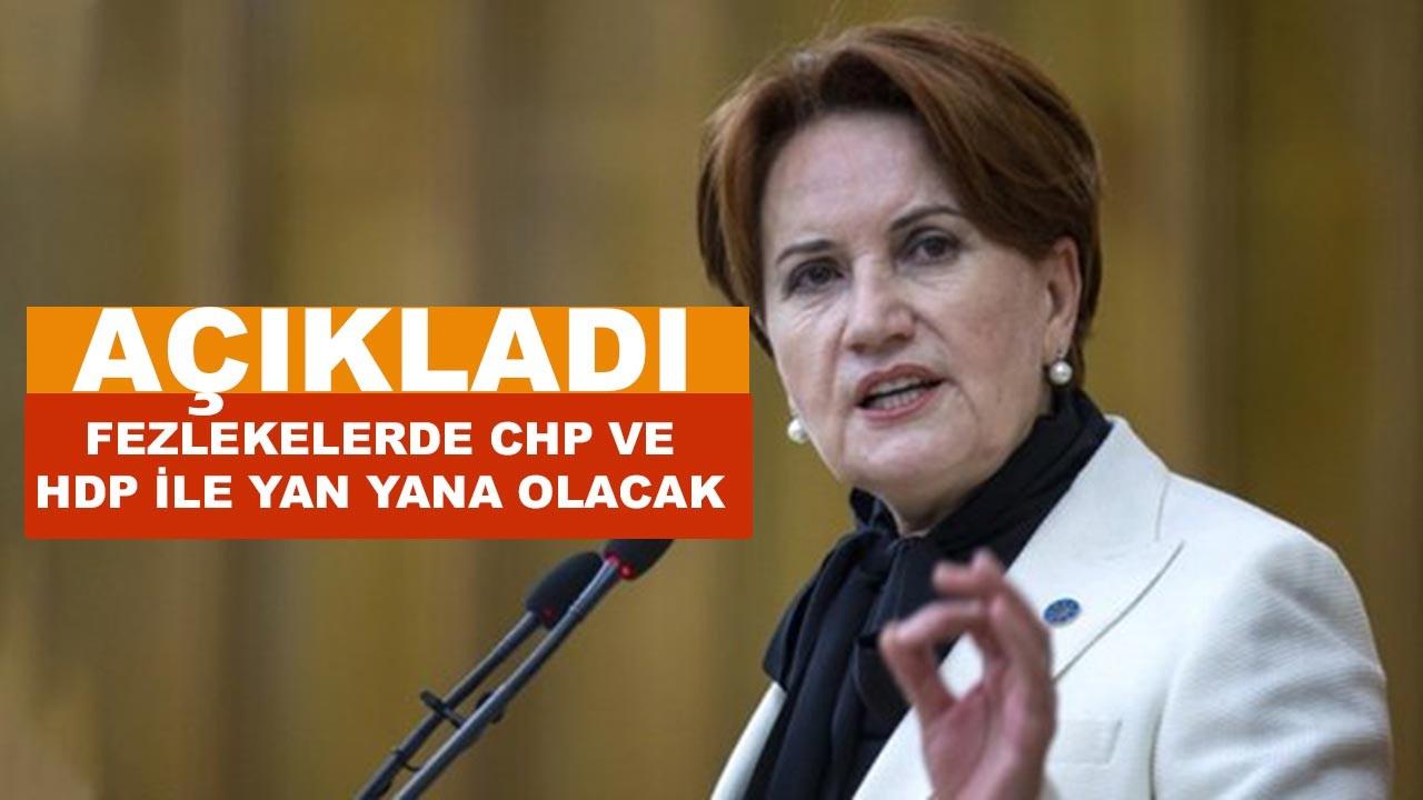 Akşener fezleke konusunda CHP ve HDP ile yan yana