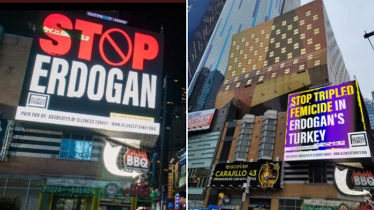Erdoğan düşmanlığını 'Stop Erdoğan' diyerek ABD sokaklarına taşıdılar