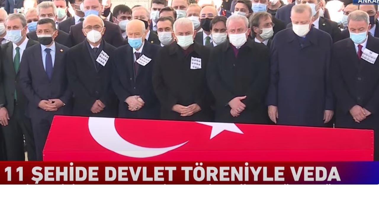 Helikopter kazası şehitleri Ankara'da devlet töreniyle uğurlanıyor
