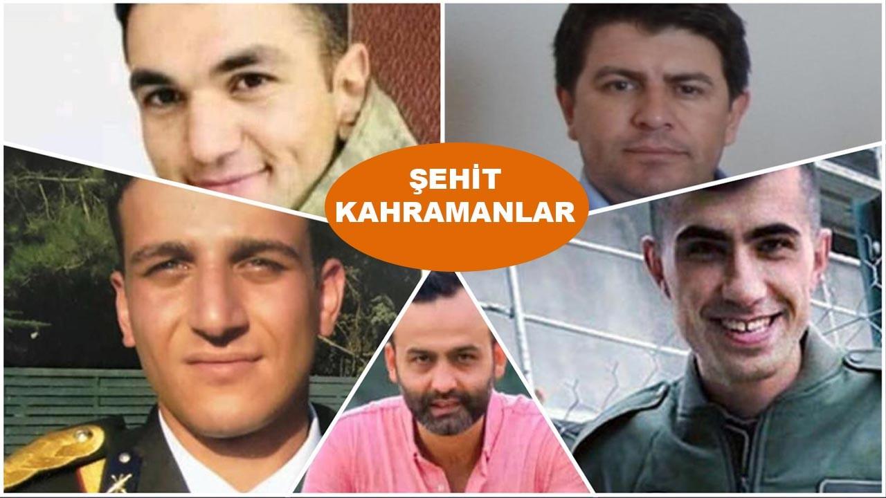 Bugünkü şehitlerin isimleri açıklandı işte helikopter kazasında ölenlerin kimlikleri