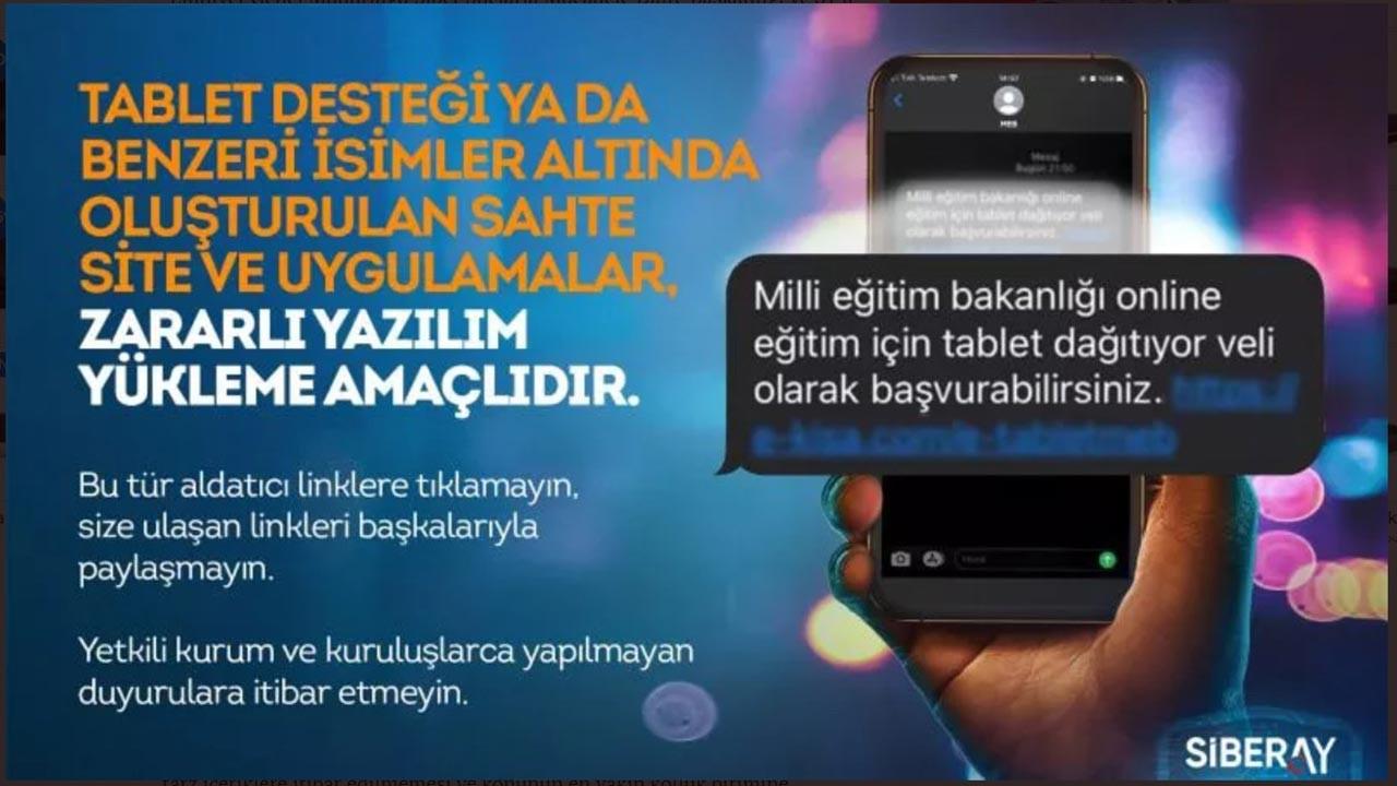 Ücretsiz tablet dolandırıcılığı uyarısı