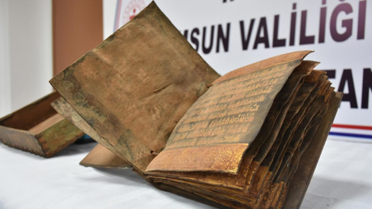 2500 yıllık altın işlemeli Tevrat ele geçirildi