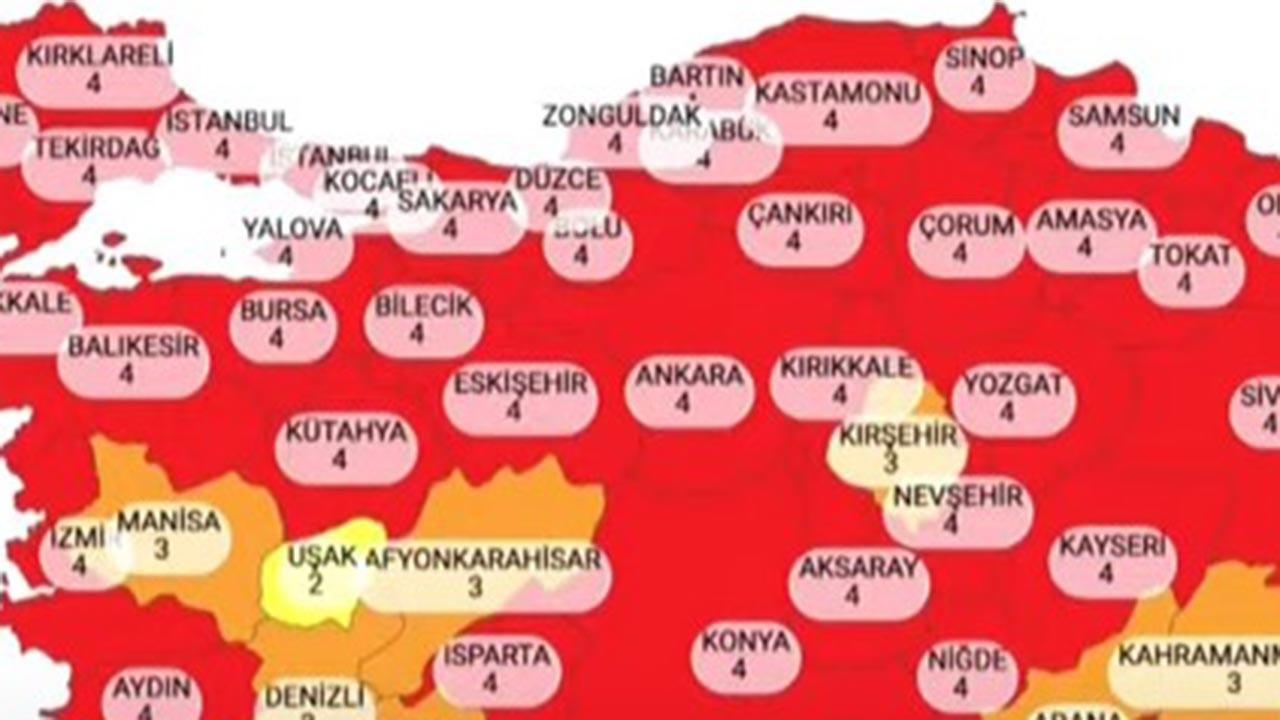 Hangi illere yasak geldi, hangi iller kırmızı TAM LİSTE