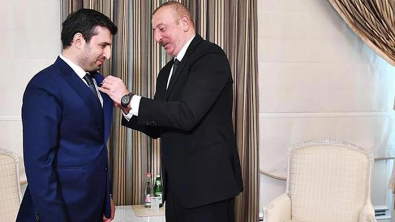 SİHA mimarı Selçuk Bayraktar'a Aliyev'den madalya