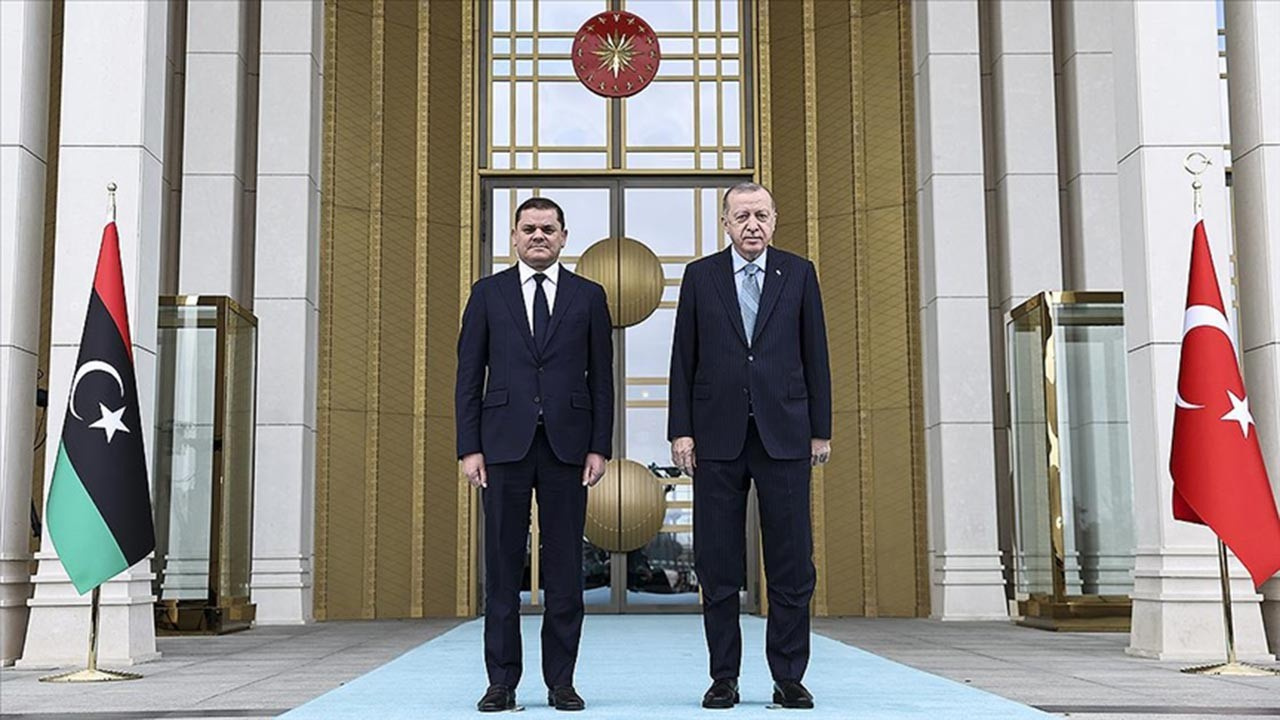 Libya Başbakanı için Beştepe'de resmi tören