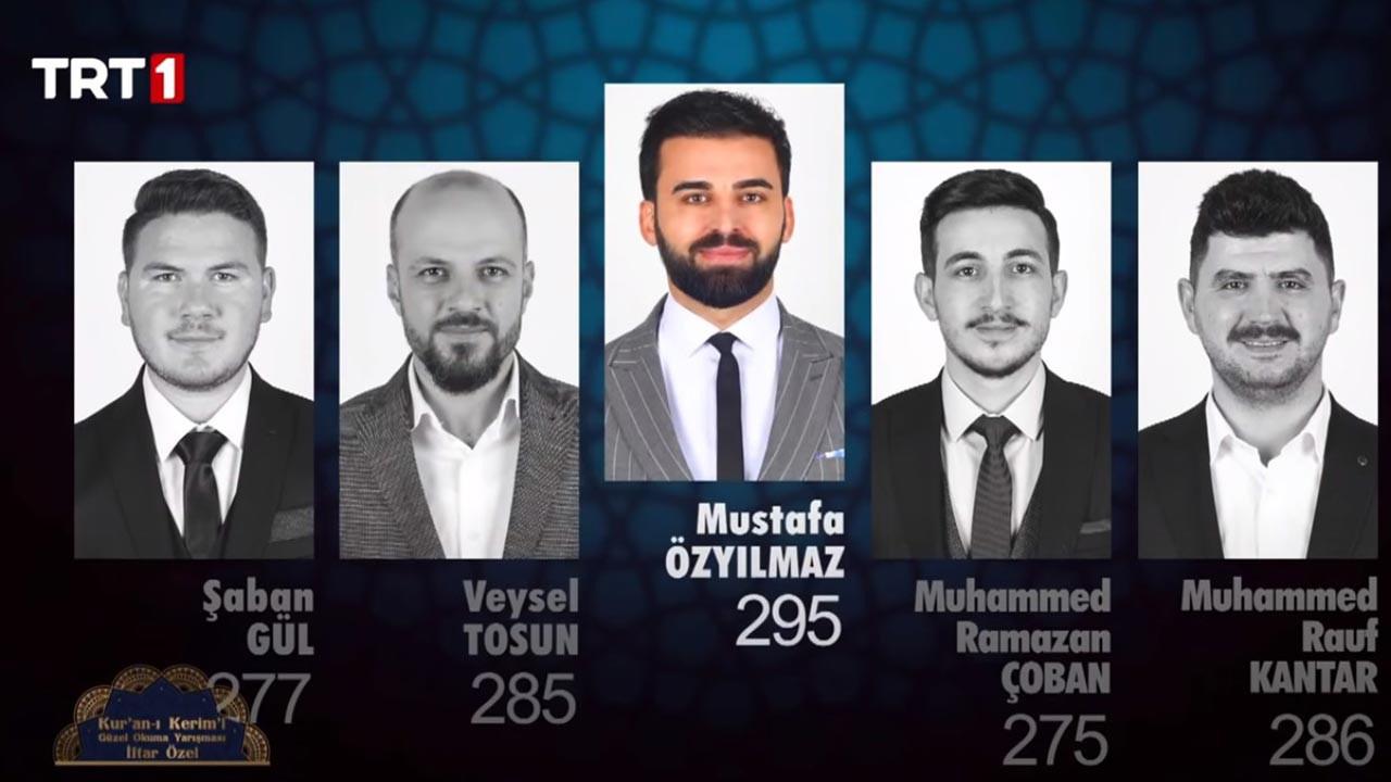 Mustafa Özyılmaz, Veysel Tosun, Şaban Gül, Muhammed Ramazan Çoban ve Muhammed Rauf Kantar