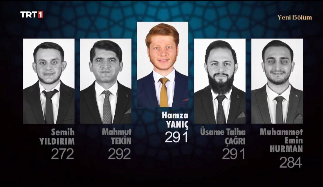 Semih Yıldırım, Mahmut Tekin, Hamza Yanıç, Üsame Talha Çağrı ve Muhammet emin Hurman