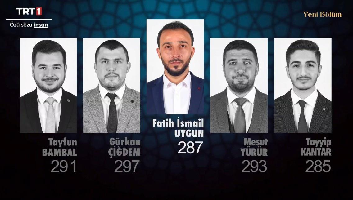 Tayfun Bambal, Gürkan Çiğdem, Fatih İsmail Uygun, Mesut Yürür ve Tayyip Kantar
