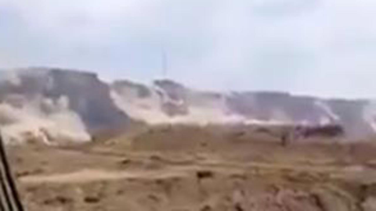 Nükleer tesislerin olduğu dağlar yerinden oynadı