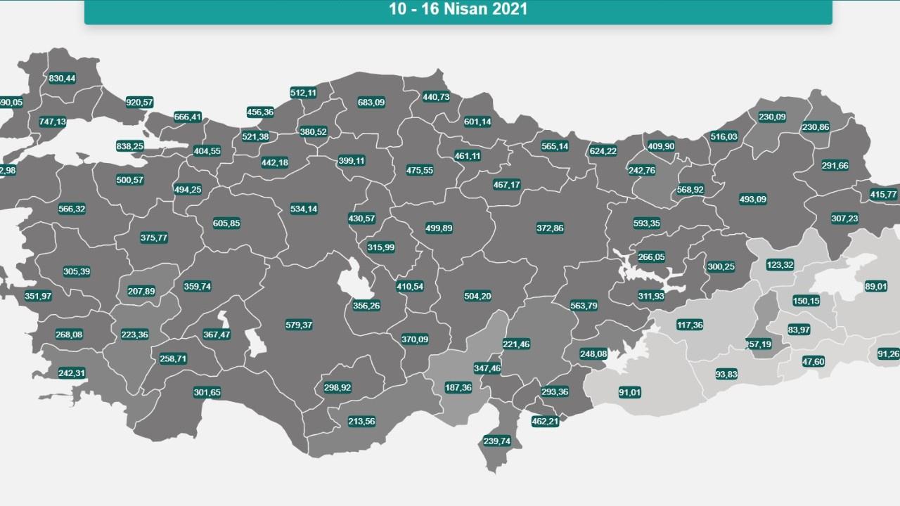 Bakan Koca Türkiye'nin risk haritasını açıkladı
