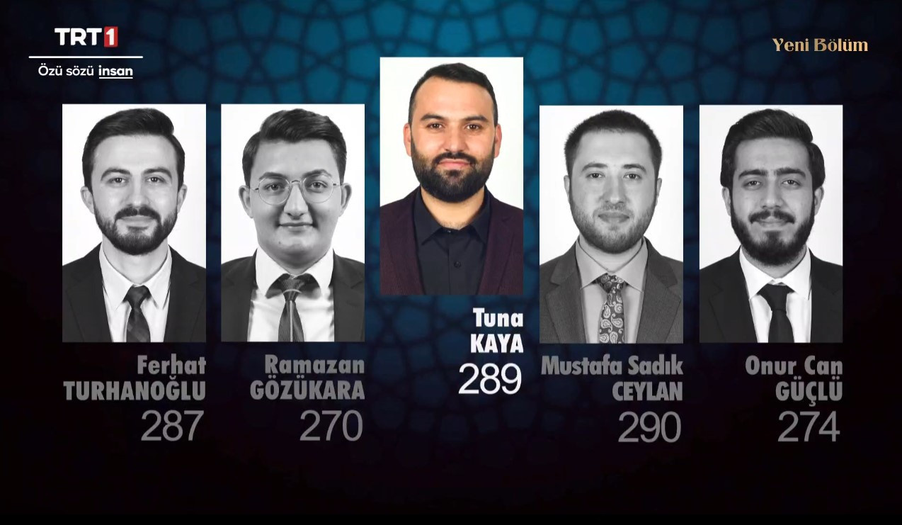 Ferhat Turhanoğlu, Ramazan Gözükara, Tuna Kaya, Mustafa Sadık Ceylan ve Onur Can Güçlü