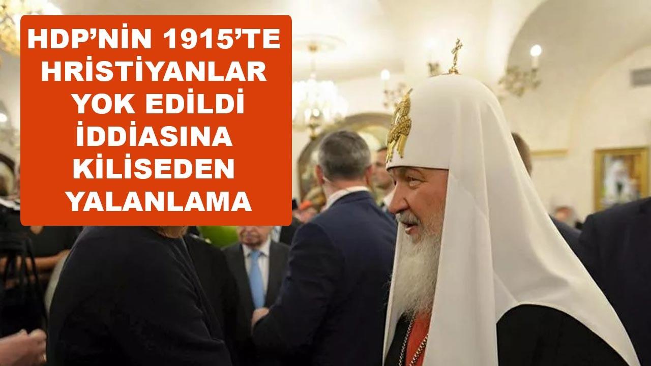 HDP'nin 'Osmanlı Hristiyanları yok etti' iddiasına